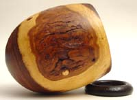 """""""Caffeine Dependency"""": Mesquite cup on coffee ground ring"""