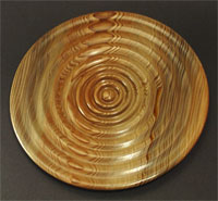 """""""In and Out of Love"""": Sinker cypress plate"""