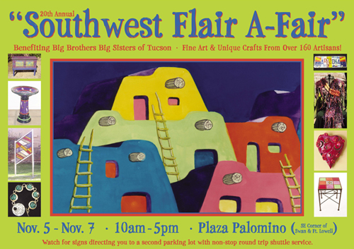 Big Brothers Big Sisters Southwest Flair A-Fair, November 5 to 7, 10 a.m. to 5 p.m.