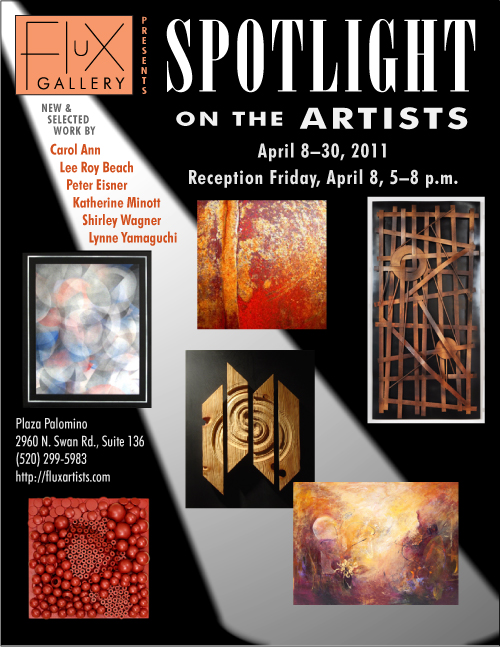 "Flux Gallery presents ""Spotlight on the Artists,"" April 8 to 30, with a reception Friday, April 8, 5 to 8 p.m."